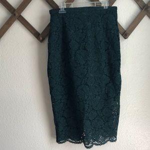 H&M Lace Midi Skirt